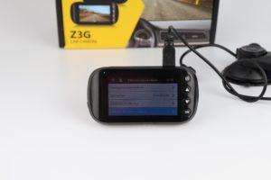 Z Edge Z3G Dashcam Funktionen Menü 2