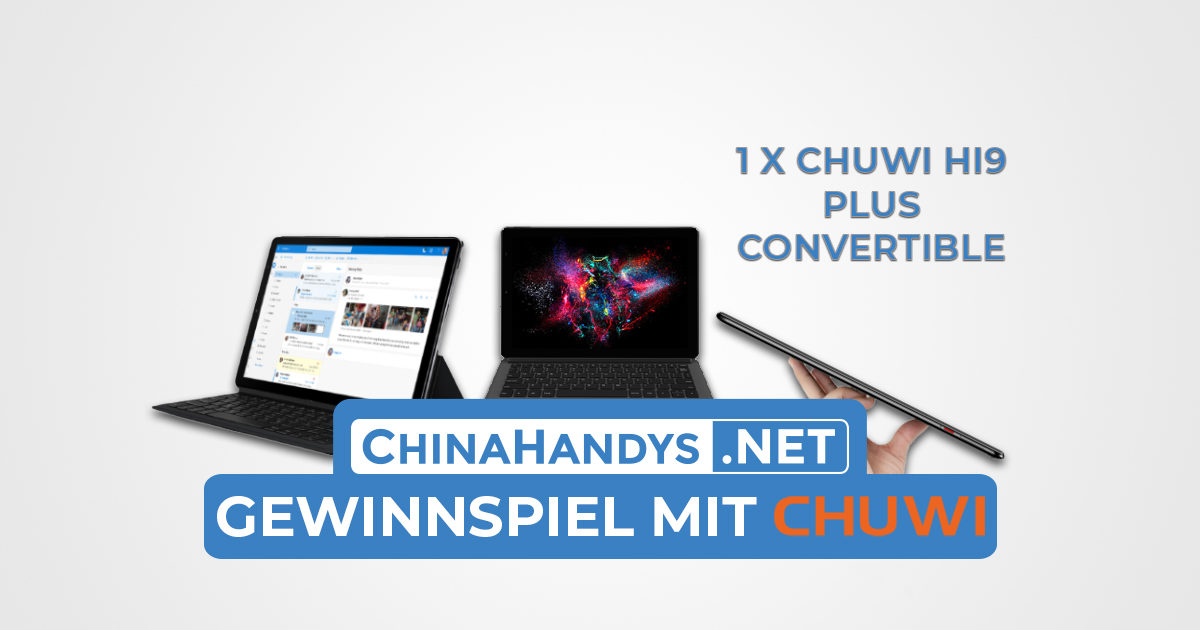 Chuwi Hi9 Plus Gewinnspiel Banner