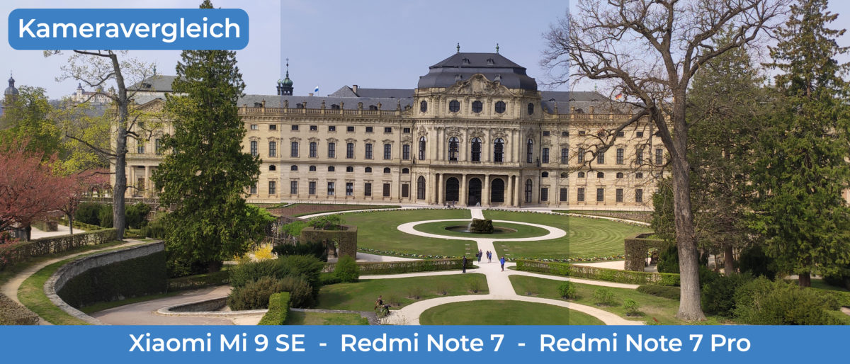 lossless Kameravergleich 4fach Mi9SE Redmi Note7 OP Titelbild