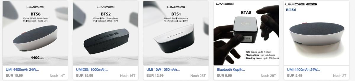 Umidigi Bluetooth Boxen