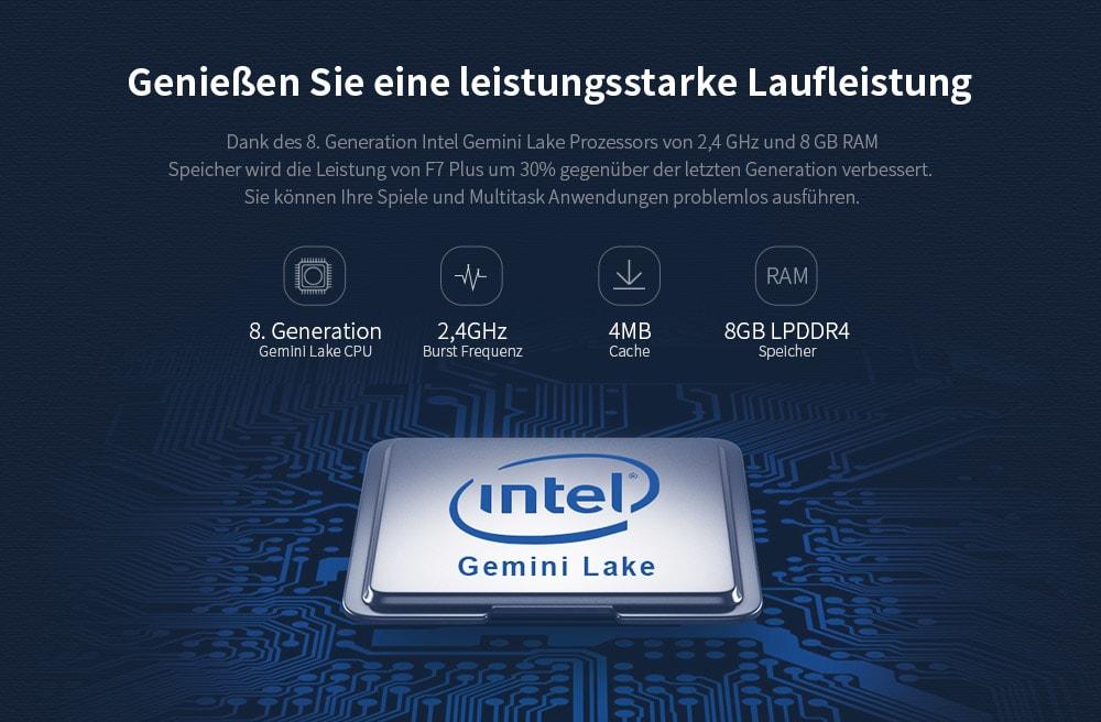 Teclast F7 Plus CPU Daten