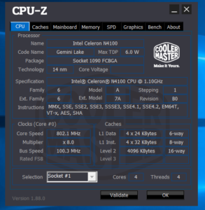 Teclast F7 Plus CPU Z