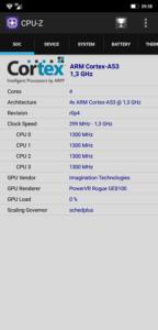 Ulefone S10 Pro CPU Z