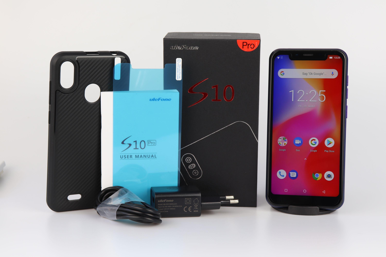 Lieferumfang des Ulefone S10 Pro