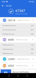 Elephone A6 Mini Testbericht Screenshots 1