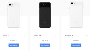 Google Pixel 3a Pixel 3a XL Mi9 Vergleich 1