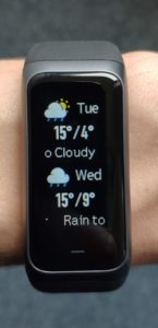 Amazfit Band 2 Weather