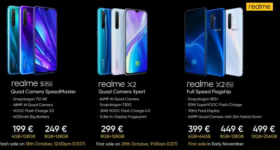 Realme Geräte für Europa Preise und Verfügbarkeit