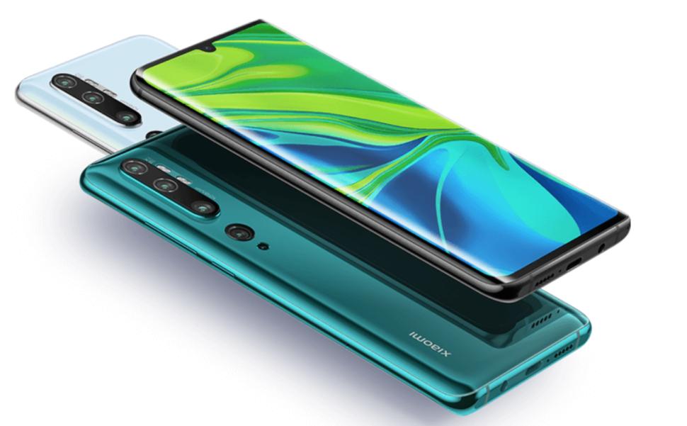 Xiaomi Mi Note 10 design