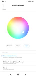 Xiaomi Redmi 8 Farben Kontrast