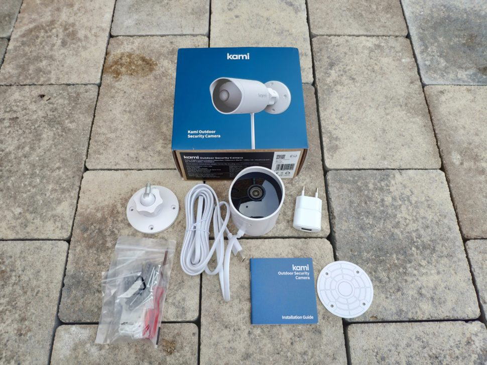 Kami Outdoor Security Camera Lieferumfang