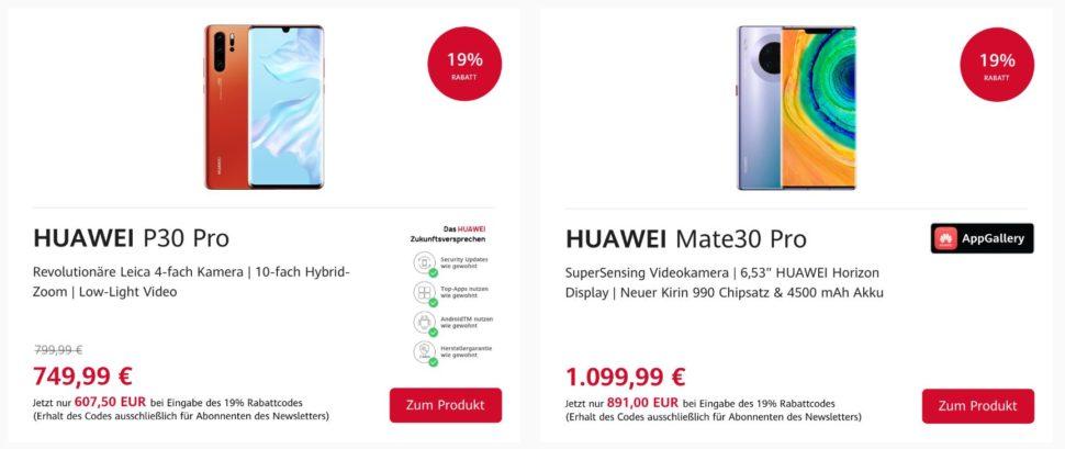 Huawei Onlineshop 19 Rabatt