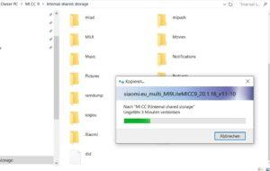 Xiaomi.EU ROM auf den Speicher übertragen