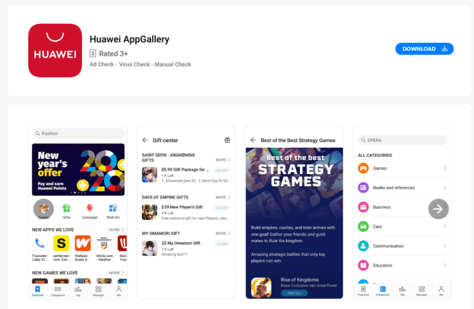 Huawei App Galerie test