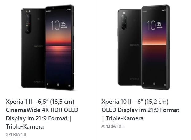 2 neue Sony Smartphones