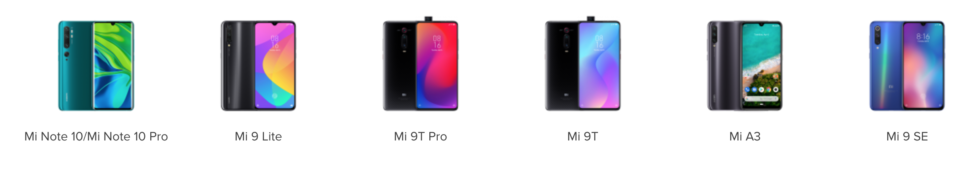Xiaomi Online Store Mi Phones