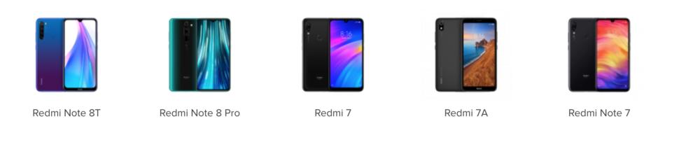 Xiaomi Onlinestore Redmi Phones