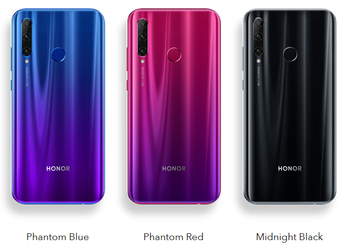 Honor 20 Lite Colors