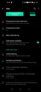 OnePlus 8 Pro Testbericht Screenshot Akkunutzung