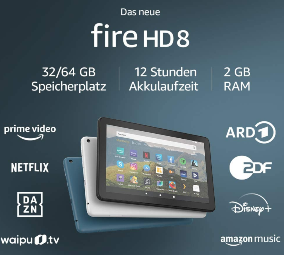 Amazon firehd 8 test