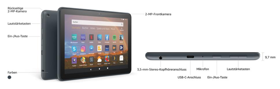 Amazon Fire HD8 Tablet specs