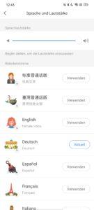 Sprachen wählen