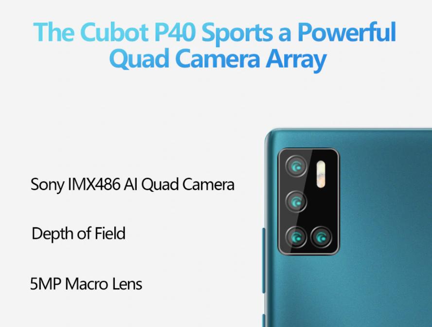 cubot p40 camera