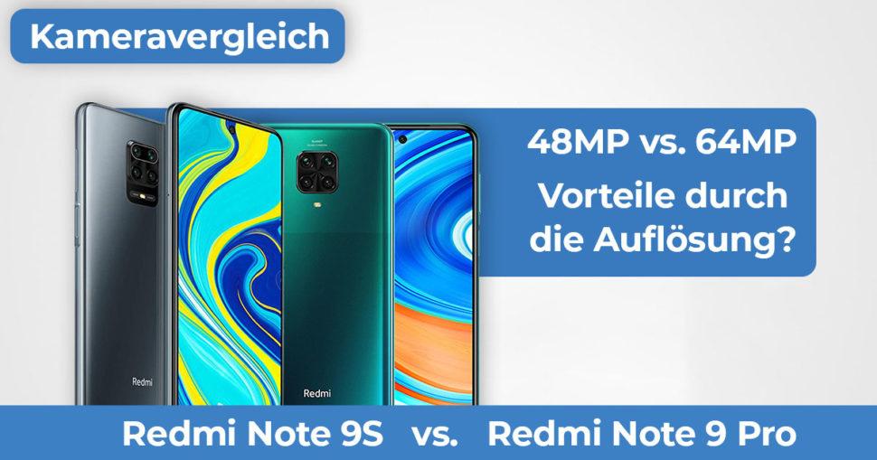 Redmi Note 9S vs Redmi Note 9 Pro Kameravergleich Banner