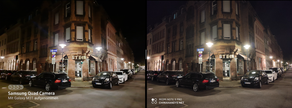 lossless samsung m31 vs redminote 9pro night 1