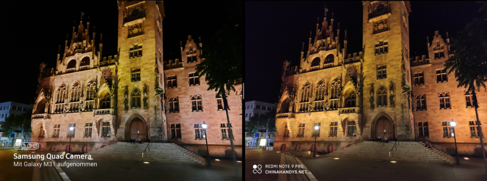 lossless samsung m31 vs redminote 9pro night 5