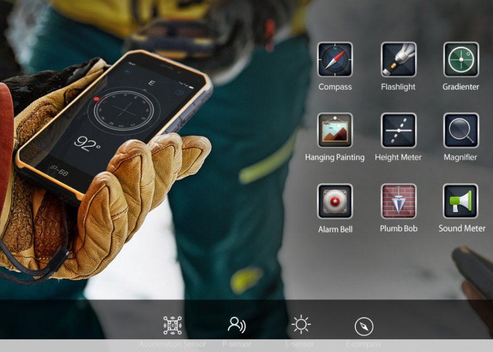 Ulefone Armor X7 Sensoren