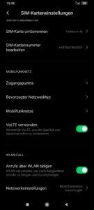 Xiami Black Shark 3 Testbericht Screenshots VoLTE VoWIFI