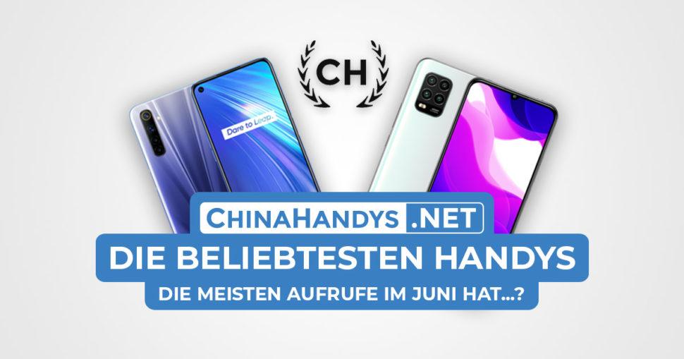 Beliebtesten Smartphones Banner Juni 2020