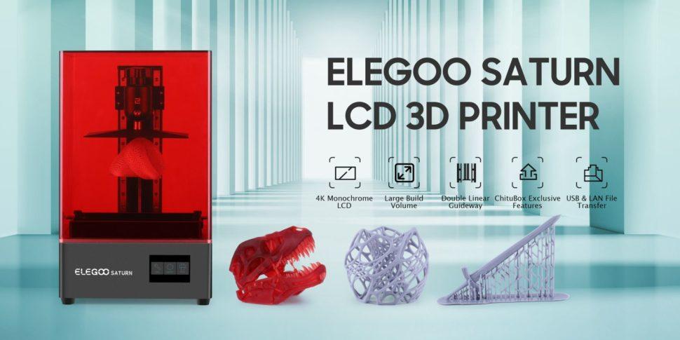 Elegoo Saturn 3D Drucker Ankündigung
