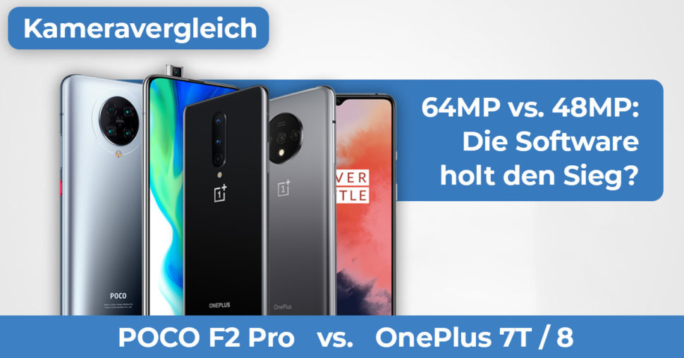 Xiaomi Mi 10 vs OnePlus 8 7T Kameravergleich