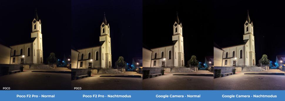 lossless Kamera Vergleich Poco F2 Pro GCam Nacht