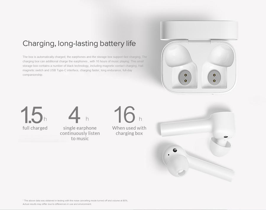 Xiaomi mi true wireless earphones lite test charge