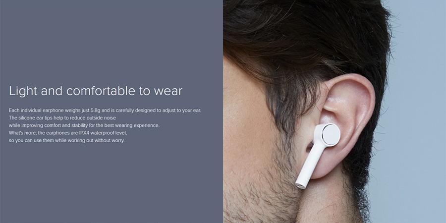 Xiaomi mi true wireless earphones lite test wear 2