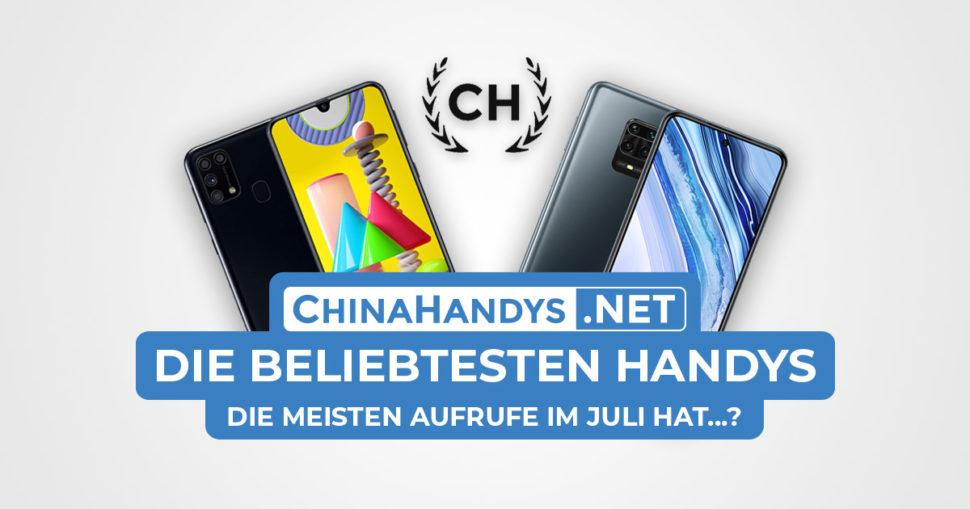 Beliebtesten Smartphones Banner Juli 2020