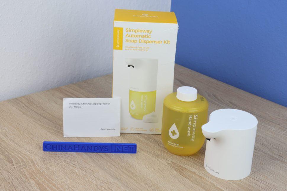 Simpleway automatischer Seifenspender Test 1
