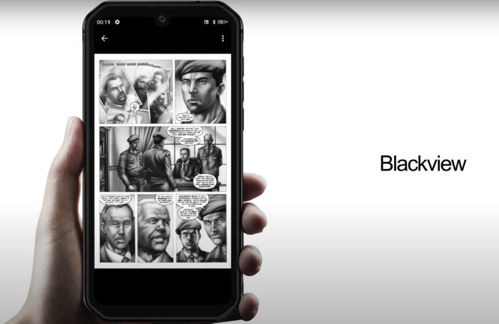 Blackview Anroid 10 gray scale