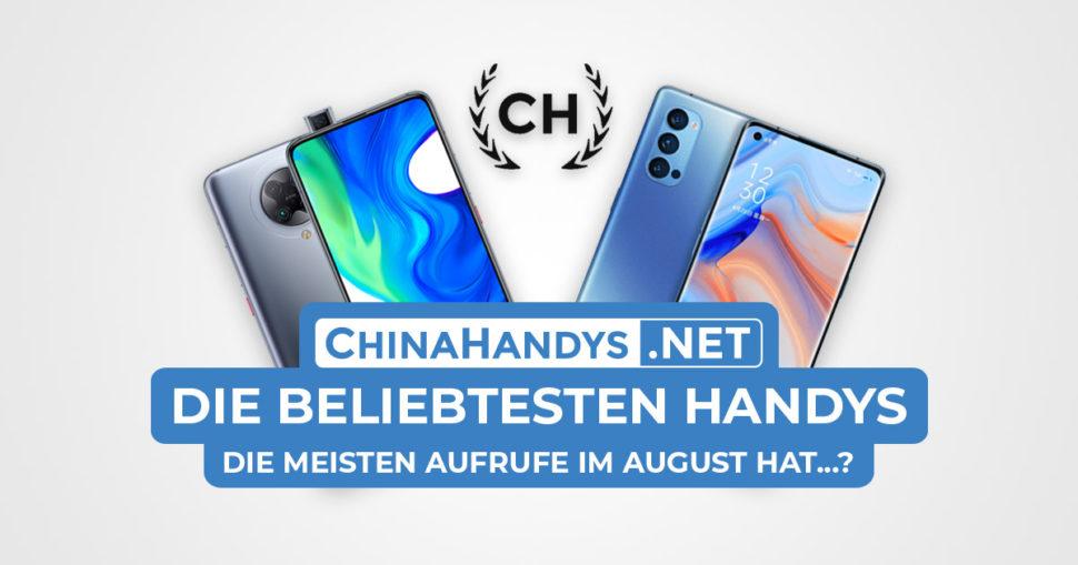 Beliebtesten Smartphones Banner August 2020