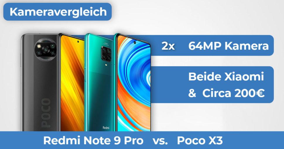 Poco X3 vs Redmi Note 9 Pro Kameravergleich Banner
