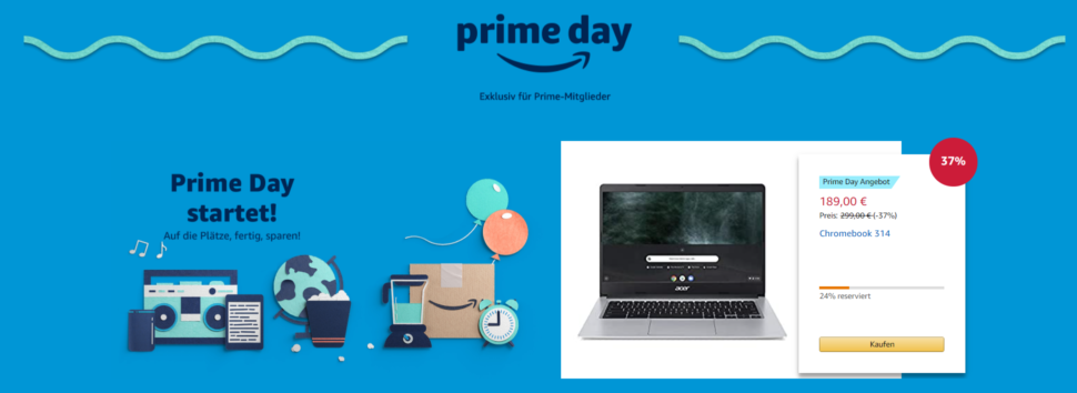 Der Amazon Prime Day hat begonnen