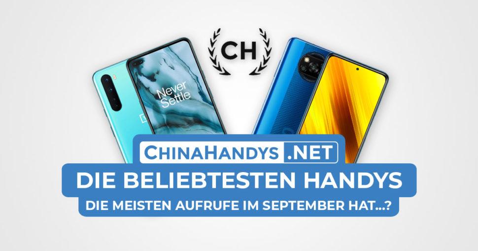 Beliebtesten Smartphones Banner September 2020