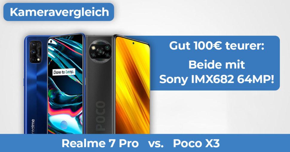 Poco X3 vs Realme 7 Pro Kameravergleich Banner