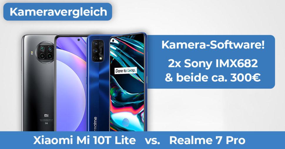 Mi 10T Lite vs Realme 7 Pro Kameravergleich Banner