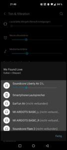 OnePlus 8T Testbericht Screenshots System Audio