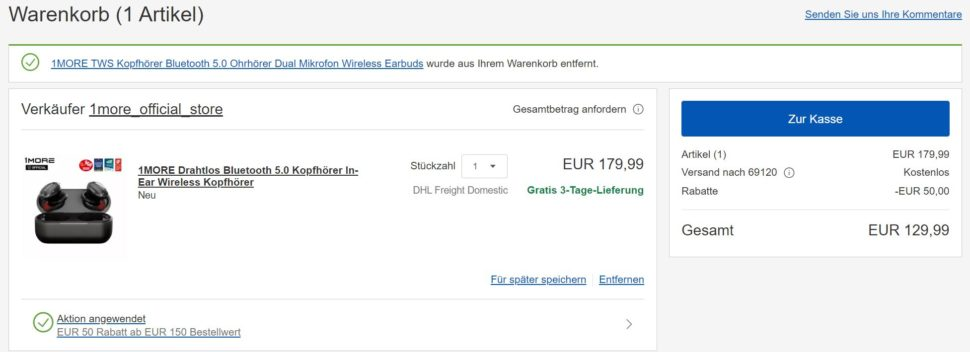 1more Ebay Angebot
