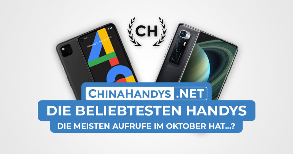 Beliebtesten Smartphones Banner Oktober 2020